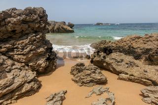 Meerblick am Strand in Nordspanien