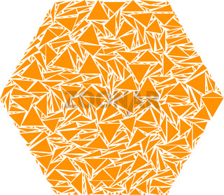 Filled Hexagon Collage of Triangles