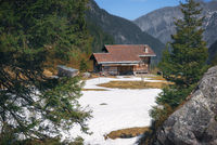 Spring landscape in European mountains