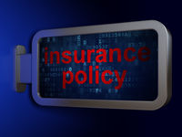 Insurance concept: Insurance Policy on billboard background