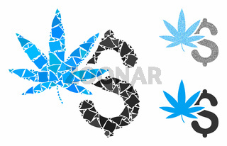 Marijuana business Composition Icon of Rugged Parts