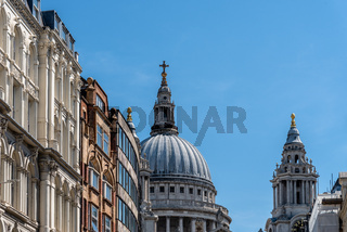 Low angle view of the Dome of St Paul Cathedral