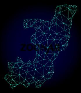 Polygonal Network Mesh Vector Map of Republic of the Congo