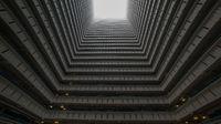 Inside square building, Hong Kong, Ping Shek estate
