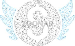 Angel Investment Polygonal Frame Vector Mesh Illustration