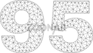 Polygonal Mesh 95 Text Tag