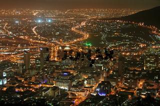 Kapstadt bei Nacht, Südafrika, Cape Town at Night
