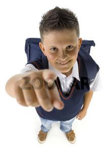 Pointing boy