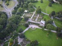 Luftbild Gartenanlage
