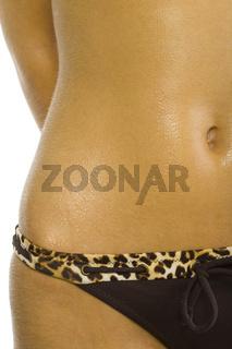 Sunburnt abdomen
