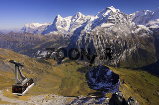 Blick von Schilthorn auf Eiger, Moench, Jungfrau, Schweiz, Berner Oberland, switzerland, swiss alps