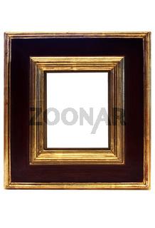 Schwarz-goldener Rahmen