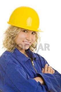 Junge Arbeiterin