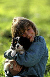 Child and dog / Kind und Hund
