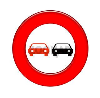 Verkehrszeichen , No passing