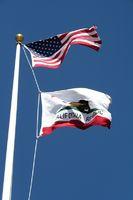 Flaggen California und USA
