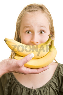 Bananen als Mund