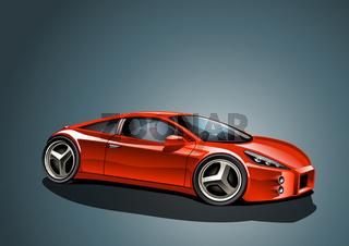 roter Konzeptwagen