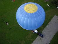 Ballonstart aus der Vogelperspektive