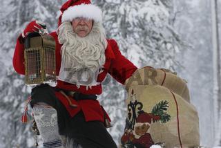 Weihnachtsmann mit Laterne und Sack, Gaellivare