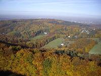 Luftbild Herbstwald