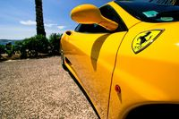 Side of a yellow car.