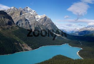 Gletschersee Peyto Lake in den Kanadischen Rocky Mountains Banff Nationalpark