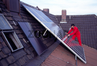 Solarmodule montieren auf Altbau