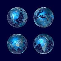 Blaue Welt - alle Kontinente