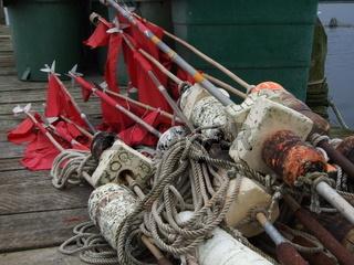 Markierung für Fischernetze - Steckbojen