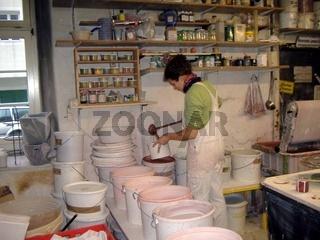 Töpferei, Pottery, Keramik, Glasieren
