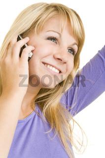 Jubelnde Jugendliche am Handy
