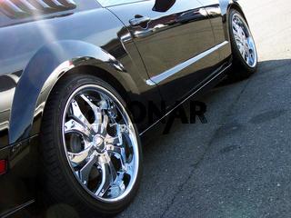 Chrom Wheels - black car