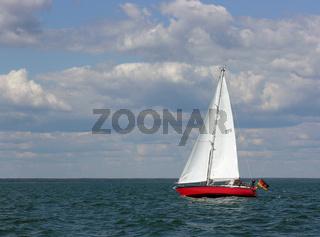 Segelyacht am Wind