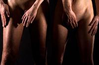 Geschlechtsteile verdecken