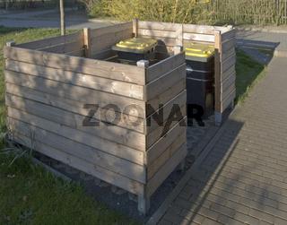 Landschaftsbau Müllbox Schrägansicht
