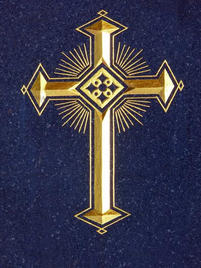 Grabsteindetail-Kreuz