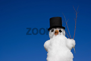 Schneemann / Man in snow