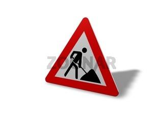 Baustelle Bauarbeiten-Schild