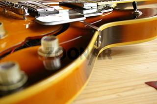 Schlagbrett einer Halbresonanz E-Gitarre