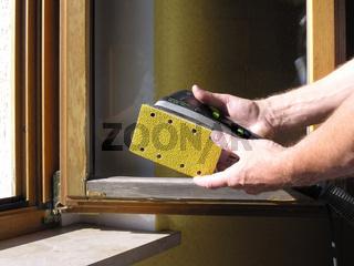 Fenster Holzlasursanierung Lasurfarbenanstrich