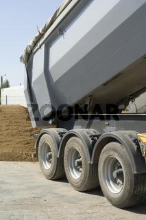 Kieslieferung, LKW, neutral, Gravel delivery, truc