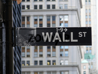 Wall Street Schild / Sign