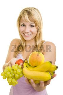 Gesundes Obst anbieten