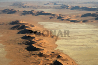 Luftbild der Namib Wüste; Aerial view of the Namib Desert