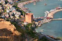 Der rote Turm - Hafen Alanya Türkei