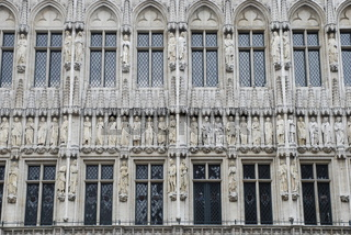 Bruessel, Grand´Place, Rathausfassade