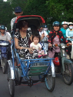 Cyclo in Saigon