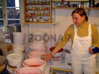 Töpferei, Pottery, Keramik, Glasurfarben