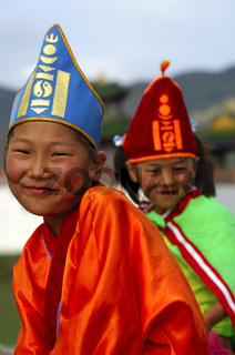 Junge Mädchen am Naadam Festival